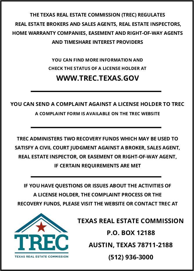 Austin Realtor Fonz TREC Consumer Notice